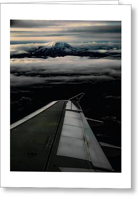 Greeting Card featuring the photograph Wings Over Rainier by Jeffrey Jensen