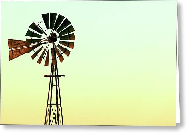Winmill Tint Greeting Card by Todd Klassy