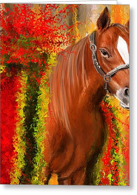 Winner Is - Derby Champion Greeting Card by Lourry Legarde