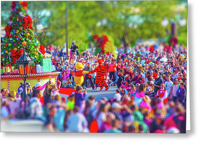 Greeting Card featuring the photograph Winnie The Pooh And Tigger by Mark Andrew Thomas