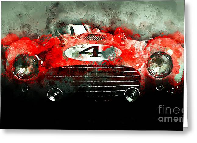 Winning Le Mans  Greeting Card by Jon Neidert