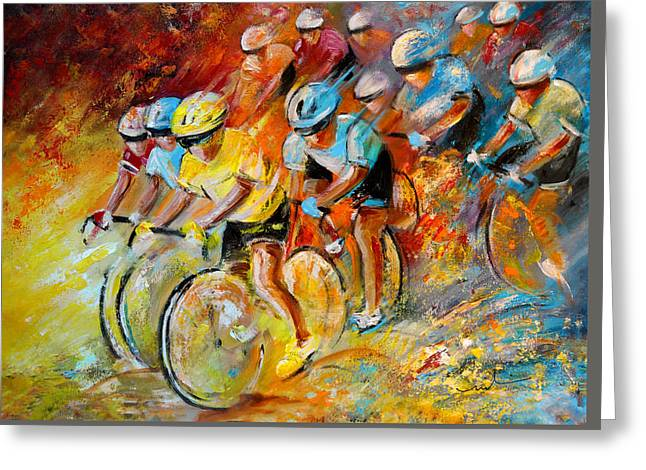 Winning The Tour De France Greeting Card