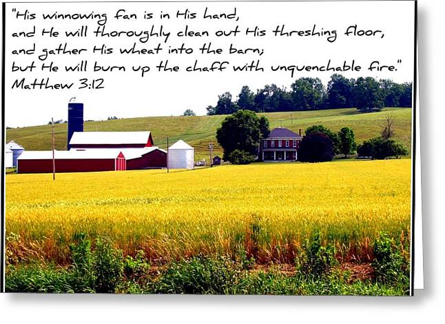 Winnowing Fan Greeting Card by Elizabeth Babler