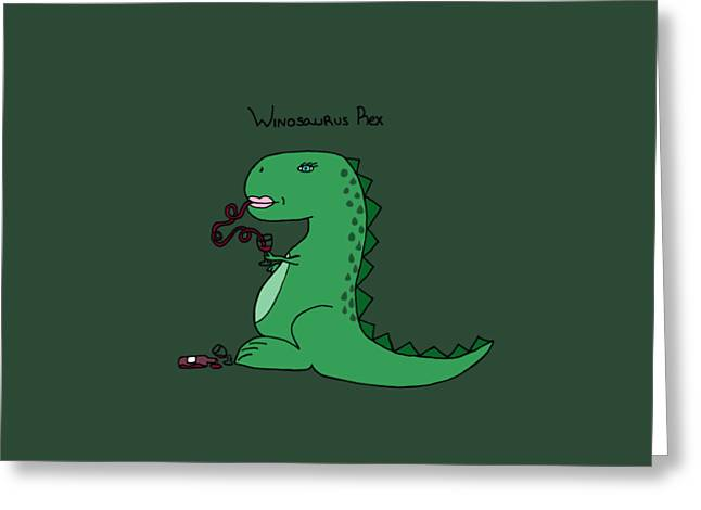 Winosaurus Rex Greeting Card