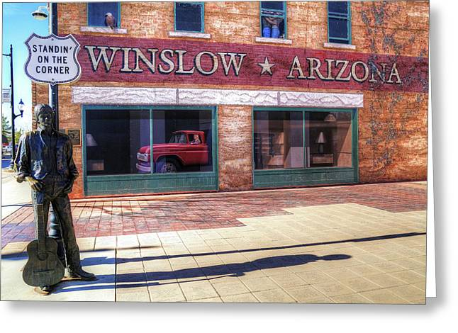 Winslow Arizona Greeting Card by Donna Kennedy