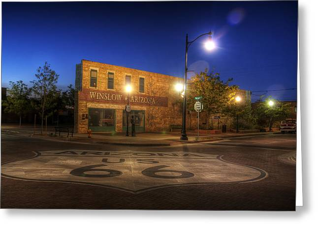 Winslow Corner Greeting Card by Wayne Stadler