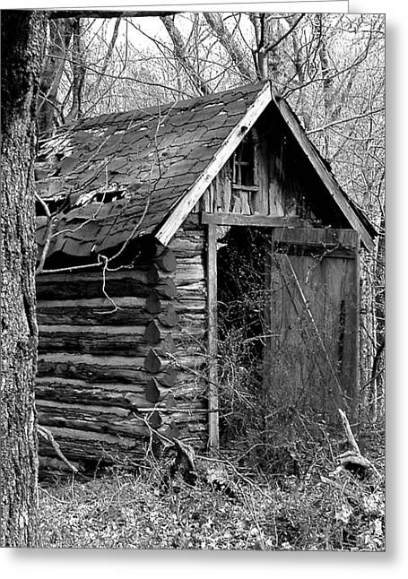 Winslowouthouse Greeting Card by Curtis J Neeley Jr