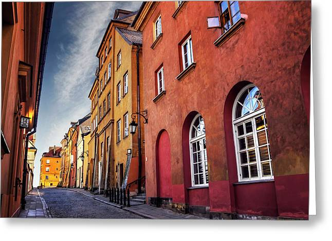 Greeting Card featuring the photograph Winsome Warsaw  by Carol Japp