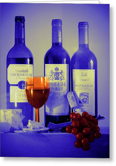 Winsome Wine Greeting Card by Donald Davis