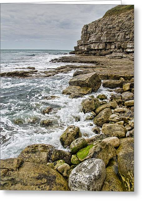 Winspit Cove In Dorset Greeting Card