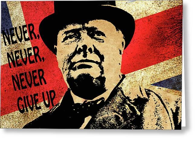 Winston Churchill 2 Greeting Card
