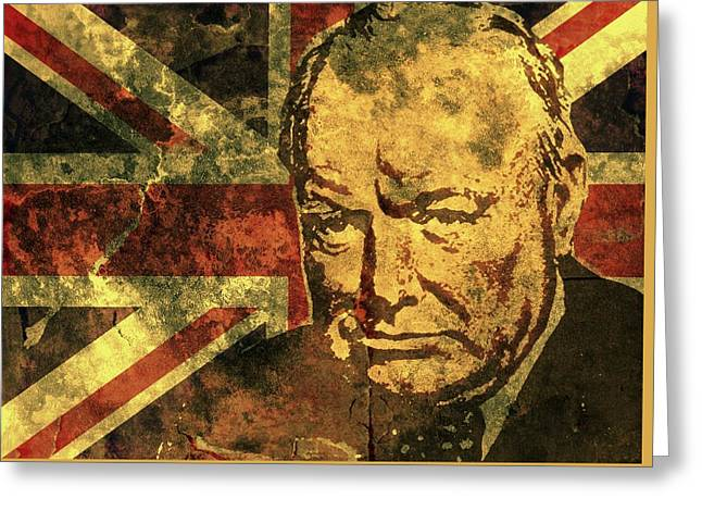 Winston Churchill-uk 2 Greeting Card by Otis Porritt