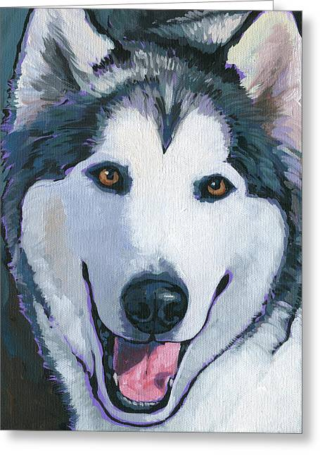 Greeting Card featuring the painting Winston by Nadi Spencer