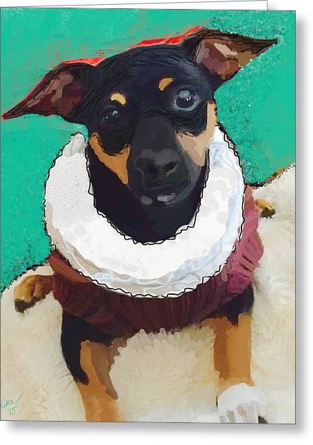 Winston Greeting Card by Suzaine Smith