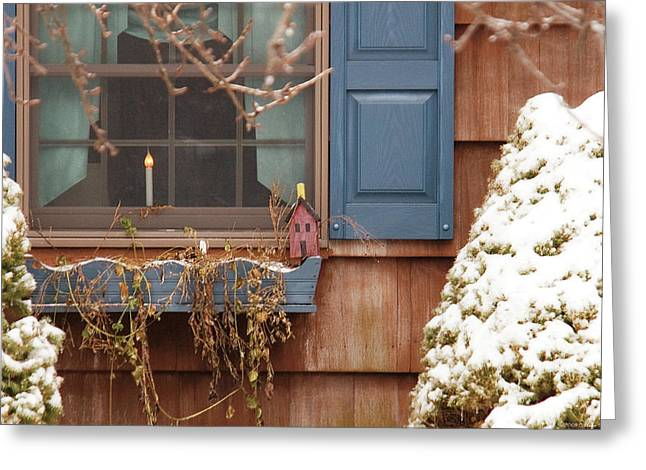 Winter - A Winters Morning Greeting Card by Mike Savad