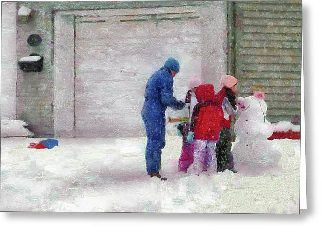 Winter - Re-constructive Surgery Greeting Card by Mike Savad