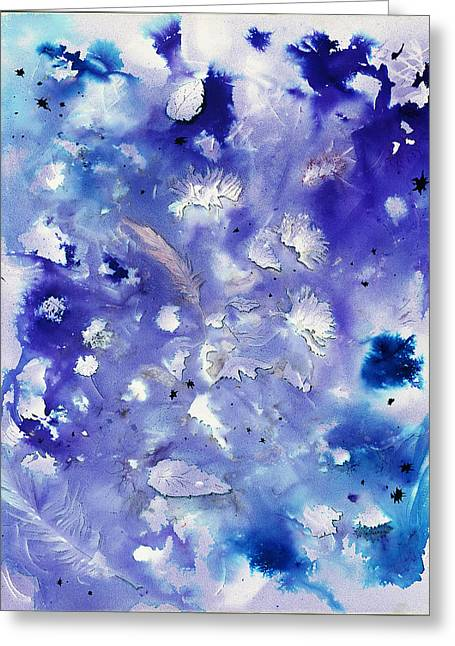 Winter Abstract Greeting Card by Dawn Marie Black