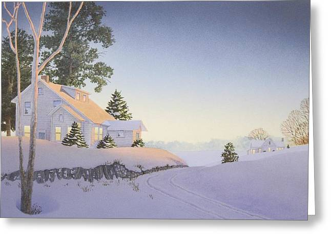 Winter Afterglow Greeting Card