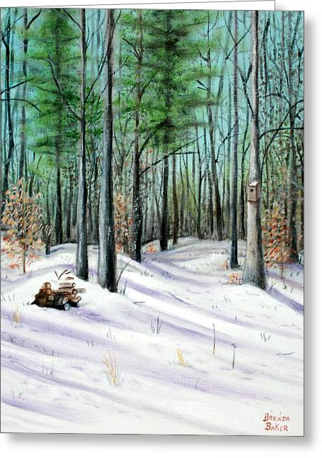 Winter Afternoon Greeting Card by Brenda Baker