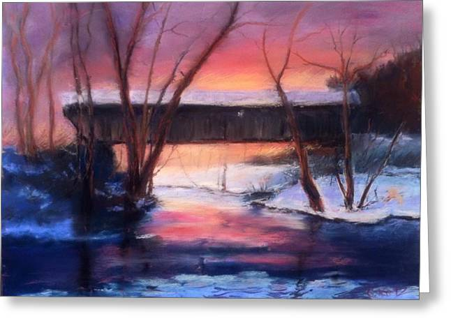Winter At Bennett's Mill Greeting Card