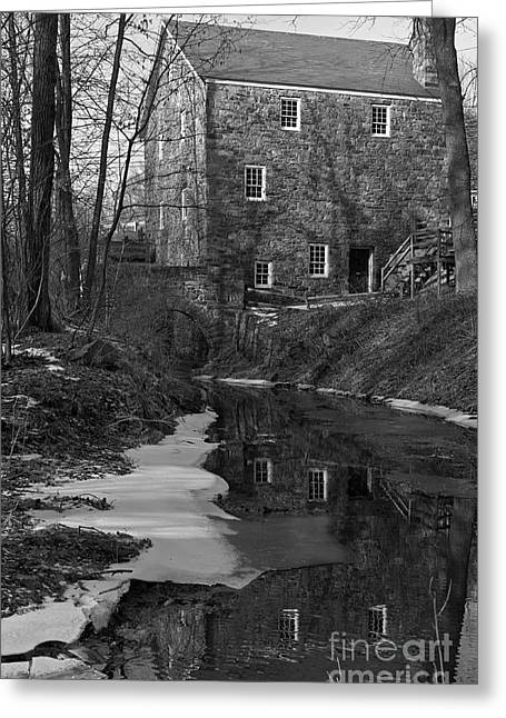 Winter At Cooper Mill Greeting Card