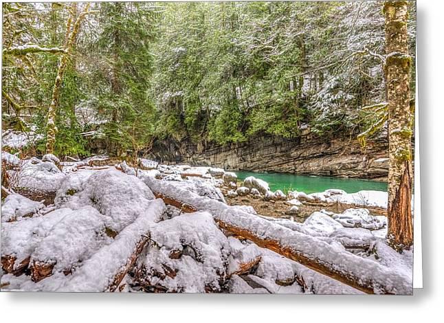 Winter At Eagle Falls Greeting Card by Spencer McDonald