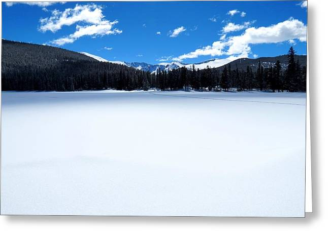 Winter At Echo Lake Greeting Card by Connor Beekman