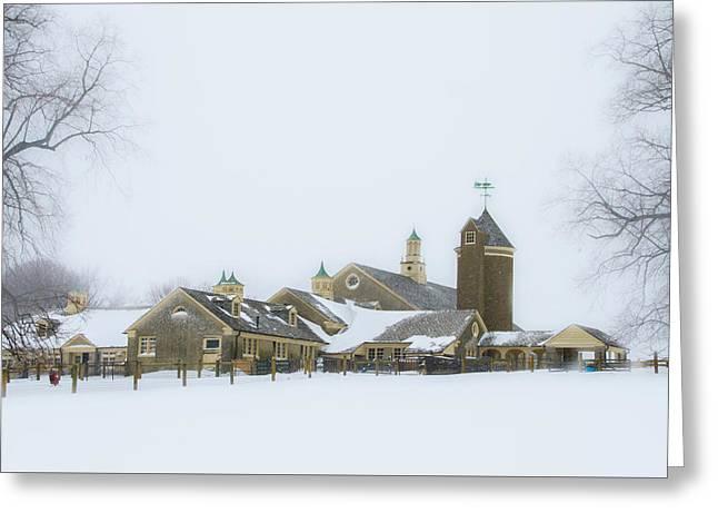 Winter At Erdenheim Farm - Whitemarsh Pa Greeting Card by Bill Cannon