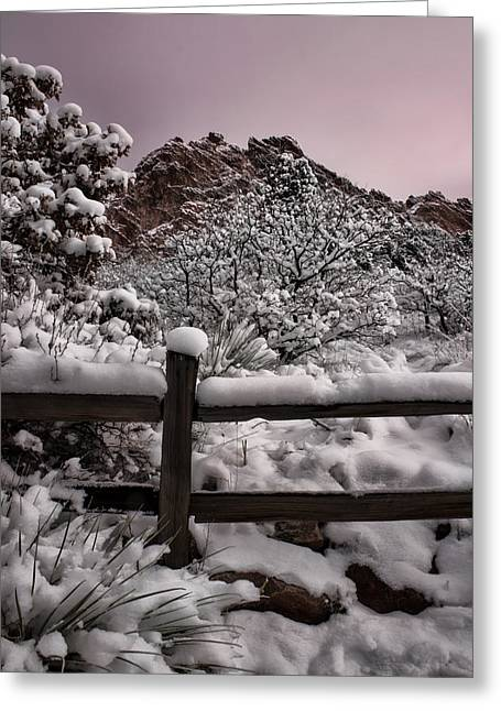 Greeting Card featuring the photograph Winter At Garden Of The Gods by Ellen Heaverlo