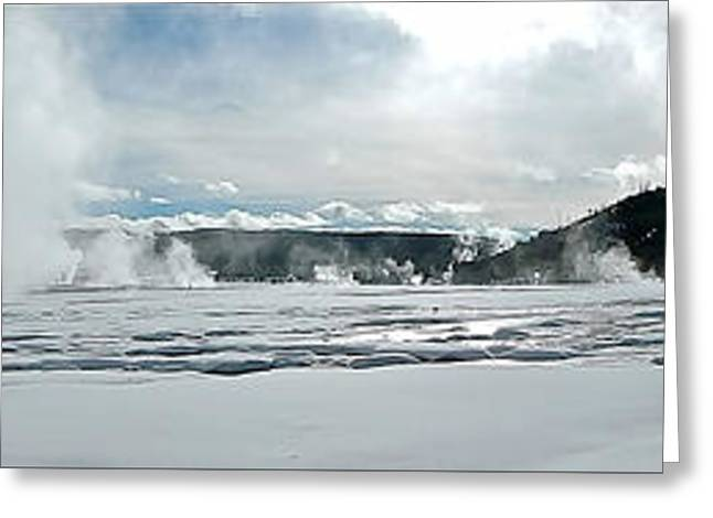 Winter At Grand Prismatic Greeting Card