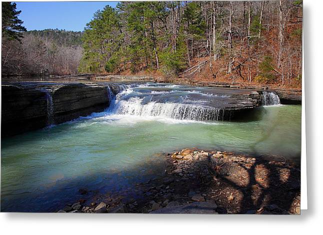 Winter At Haw Creek Falls Greeting Card