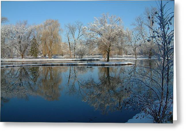 Winter At Hidden Lakes Greeting Card by Gregory Jeffries