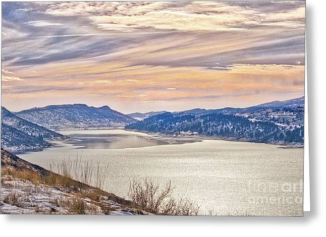Winter At Horsetooth Reservior Greeting Card