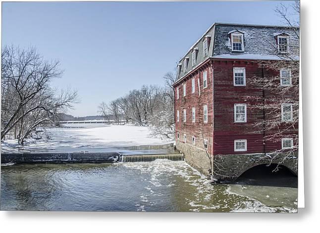 Winter At Kingston Mill Greeting Card