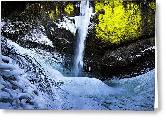 Winter At Latourell Falls Greeting Card