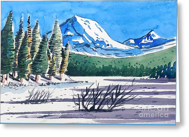 Winter At Mt. Lassen Greeting Card by Terry Banderas