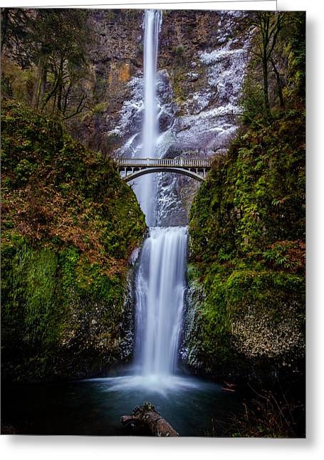 Winter At Multnomah Falls 2 Greeting Card
