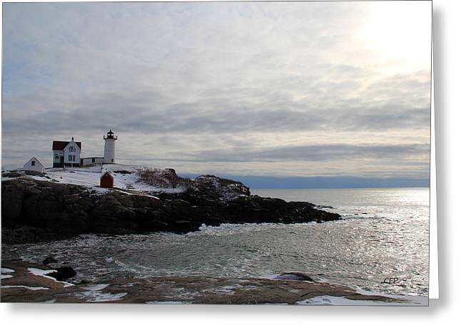 Winter At Nubble Lighthouse Greeting Card
