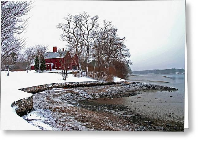 Greeting Card featuring the photograph Winter At Perkins House  by Wayne Marshall Chase