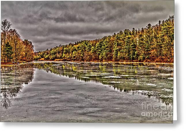 Winter At Pine Lake Greeting Card