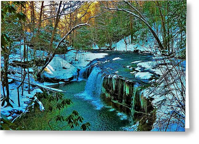 Winter At Princess Falls Greeting Card