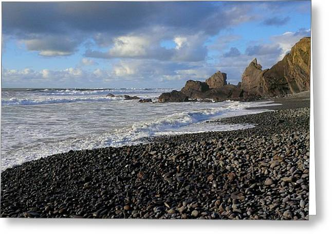 Winter At Sandymouth Greeting Card