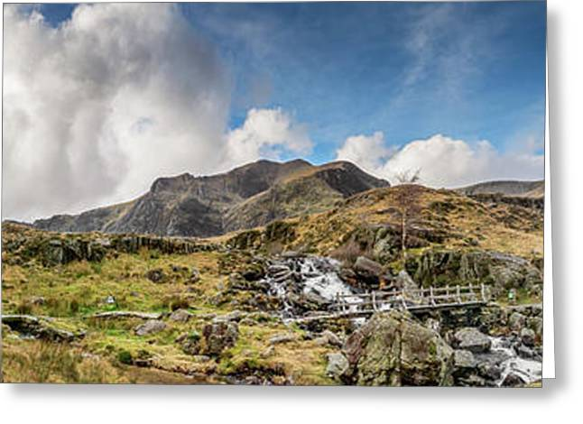 Winter At Snowdonia Greeting Card by Adrian Evans