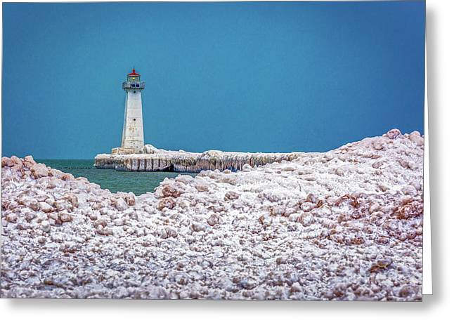 Winter At Sodus Point  Greeting Card