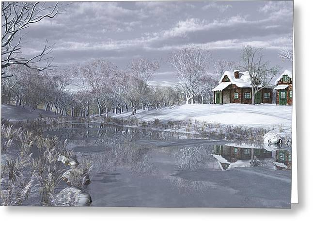 Winter At The Lake Greeting Card by Jayne Wilson