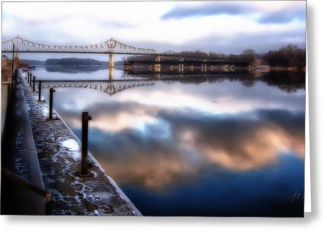 Winter At The Levee Greeting Card