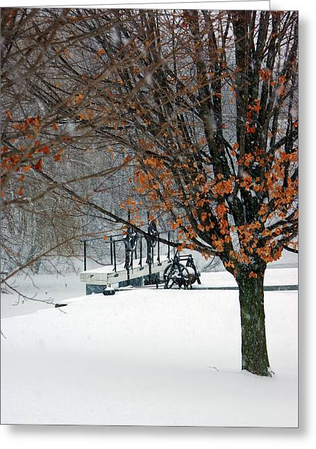 Winter At The Locks Greeting Card by Paul Wash