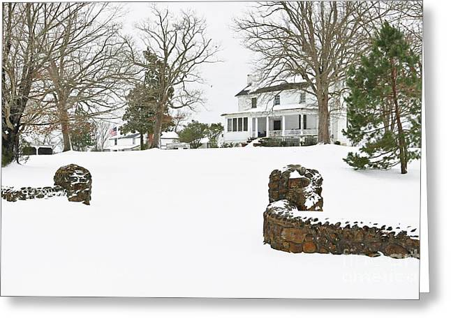 Winter At The Old Homeplace  Greeting Card