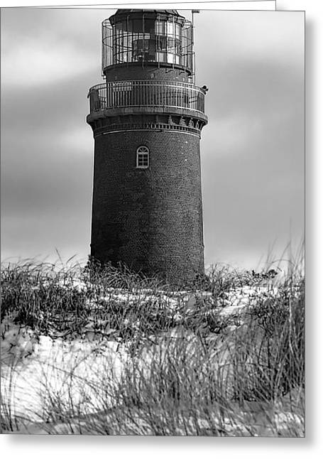 Winter Baltic Sea Lighthouse Greeting Card by Daniel Hagerman