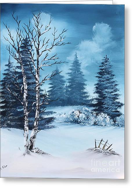 Winter Greeting Card by Barbara Teller